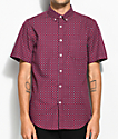 Obey Sterling Burgundy Short Sleeve Button Up Shirt