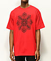 Obey Stop The Violence Mandala Red T-Shirt
