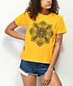 Obey Stop The Violence Mandala camiseta dorada