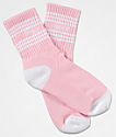 Obey Taylor White & Light Pink Crew Socks