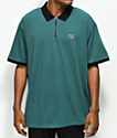 Obey Tone Teal Zip Up Polo Shirt