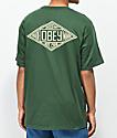 Obey Trademark Diamond camiseta color verde de bosque