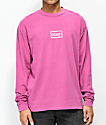 Obey Typewriter Dusty Magenta Long Sleeve T-Shirt