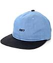 Obey Underground Black & Blue 6 Panel Hat