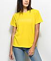 Obey Worldwide Sport Boxy Yellow T-Shirt
