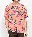 Obey camisa de manga corta tejida de lilas