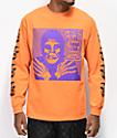 Obey x Misfits Fiend Club Halloween Orange Long Sleeve T-Shirt
