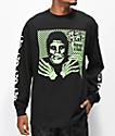 Obey x Misfits Fiend Club Halloween camiseta negra de manga larga