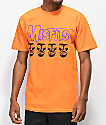 Obey x Misfits Fiend Skull Orange T-Shirt