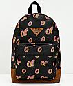 Odd Future All Over Donut mochila negra