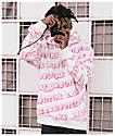 Odd Future All Over sudadera con capucha blanca y rosa