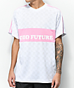Odd Future Checker White & Pink Soccer Jersey