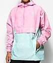 Odd Future Color Block Pink & Teal Anorak Jacket