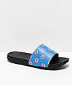 Odd Future Donuts Blue & Black Slide Sandals