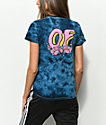 Odd Future OF Donut Rose Navy Tie Dye T-Shirt
