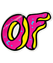 Odd Future OF Donut Vinyl Sticker