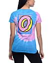 Odd Future OF Donut camiseta con efecto tie dye en azul y rosa