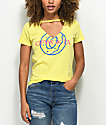 Odd Future OFWGKTA Cutout V-Neck Yellow T-Shirt