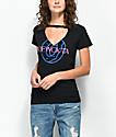Odd Future OFWGKTA camiseta negra con cuello recortado
