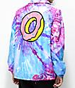 Odd Future Purple & Pink Tie Dye Coaches Jacket