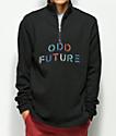 Odd Future Quarter Zip Black Fleece Sweatshirt