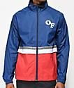 Odd Future Red, White & Blue Colorblock Windbreaker Jacket