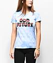 Odd Future Roses camiseta azul con efecto tie dye