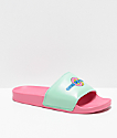 Odd Future Sliders Pink & Teal Slide Sandals
