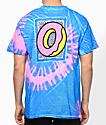 Odd Future Tour camiseta con efecto tie dye en rosa y azul