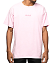 Odd Future Triple Donut Embroidered Pink T-Shirt