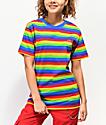 Odd Future camiseta de rayas de arcoíris
