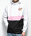 Odd Future chaqueta anorak con diseño color block en blanco, rosa y negro