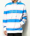 Odd Future sudadera con capucha a rayas blancas, azules y rosas