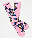 Odd Future x Santa Cruz Allover Print Pink Crew Socks