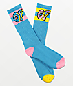 Odd Future x Santa Cruz Mix Match Blue Crew Socks
