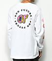 Odd Future x Santa Cruz Screaming Donut camiseta blanca de manga larga