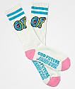 Odd Future x Santa Cruz calcetines blancos y rosas