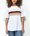 Op Epic Stripe White T-Shirt