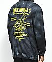 Open925 Dixie Norma's sudadera negra con capucha y efecto tie dye