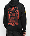 Open925 Wok This Way Black, Red & Gold Hoodie