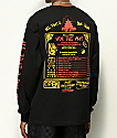 Open925 Wok This Way Black Long Sleeve T-Shirt