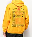 Open925 Wok This Way sudadera con capucha amarilla