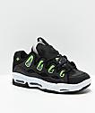 Osiris D3 2001 zapatos de skate en negro, blanco y verde