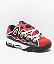 Osiris D3 2001 zapatos skate en rojo, negro y blanco