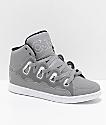 Osiris D3H zapatos de skate reflectantes en gris, negro y blanco