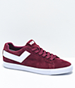 PONY Top Star Lo Burgundy & White Suede Shoes