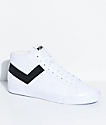 PONY Topstar Hi White & Black Shoes