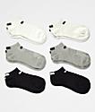 PUMA 6 Pack Low Cut Black, Grey & White Socks