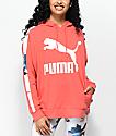 PUMA Classics Logo T7 AOP sudadera con capucha en coral
