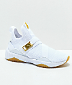 PUMA Defy Varsity Mid White & Gold Shoes